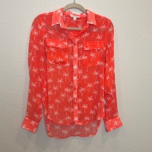 AMERICAN EAGLE Sheer Button-Down Blouse